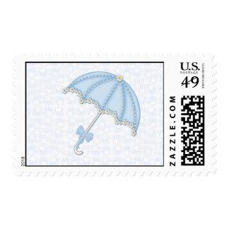 baby shower blue1 postage stamp