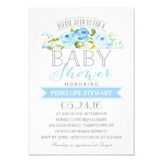 Baby Shower Blue   Baby Shower Invitation