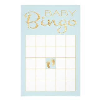 "Baby Shower BLUE BINGO ""Gold/Blue Classic"" Flyer"