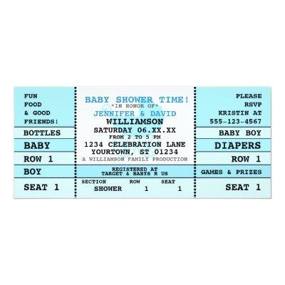 concert ticket invitation blue zazzle com