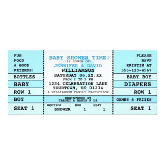 Baby Shower Blue Concert Ticket Invitation