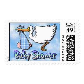 Baby Shower Blue Postage