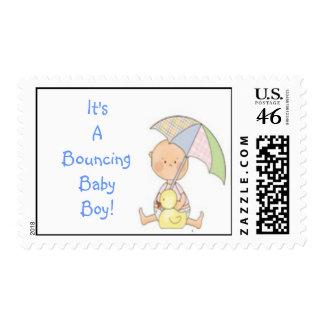 baby shower,blue,present,stamp,cute,fun,boy