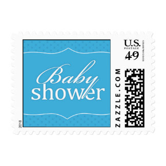 Baby Shower Blue Small Stamp