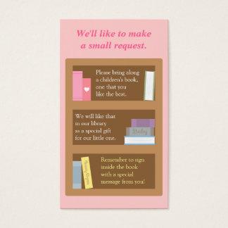 Baby Shower Book Insert Request Card