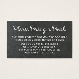 Baby Shower Book Request Card Rustic Chalkboard