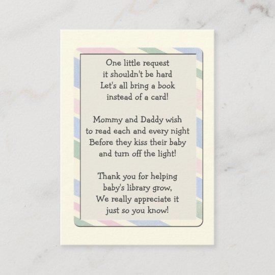 Baby Shower Book Request Insert Card Zazzle