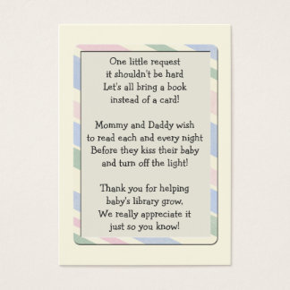 Baby Shower Book Request Insert  Card