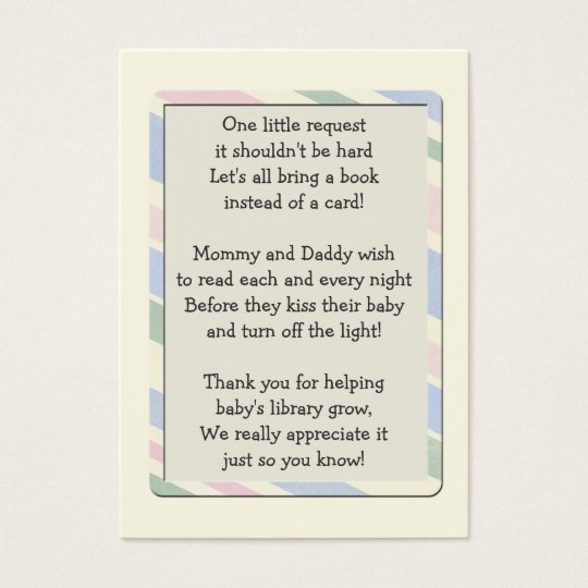 Baby Shower Book Request Insert  Card