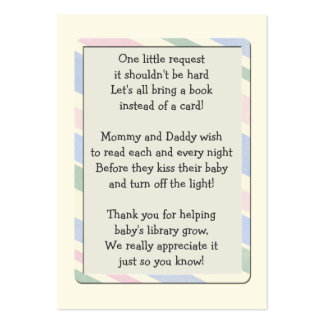 Baby Shower Book Request Insert  Card Large Business Card