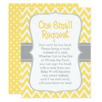 Baby Shower Book Request | Yellow and Gray Card