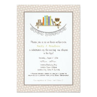 Book baby shower invitations announcements zazzle baby shower book themed unisex invitation filmwisefo