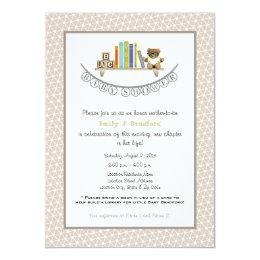 Baby Shower Book Themed Unisex Invitation