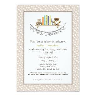 Baby Shower Book Themed Uni Invitation