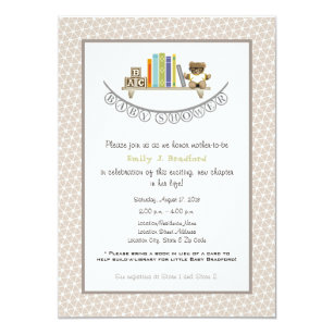 Superior Baby Shower Book Themed Unisex Invitation