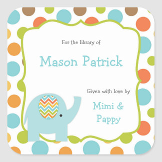 Baby Shower Bookplates / library stickers
