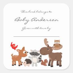 Baby Shower bookplates / woodland animals