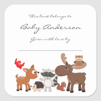 Baby Shower bookplates / woodland animals