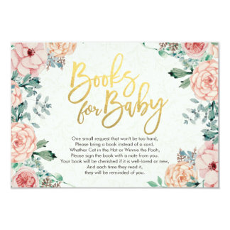 Baby Shower Books for Baby / Bring a book Request Card