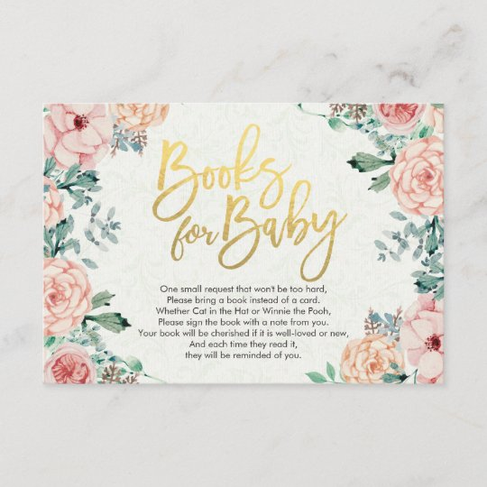 Baby Shower Books For Bring A Book Request Enclosure Card