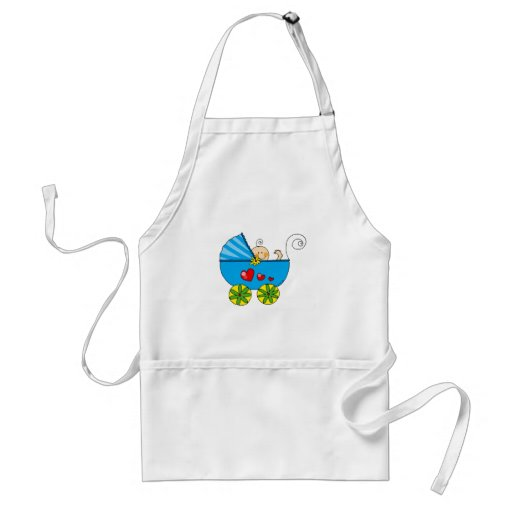 Baby shower (boy) adult apron