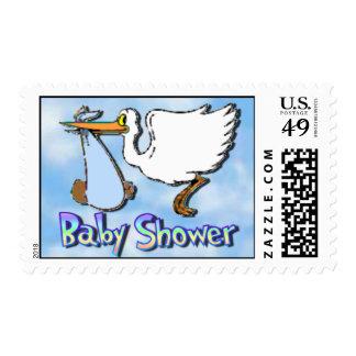 Baby Shower Boy Black Postage Stamps
