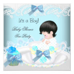 Baby Shower Boy Blue Baby Teacup Cupcake 2 Card