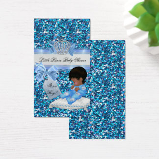 Baby Shower Boy Blue Little Prince Bunnies TAG