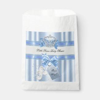 Baby Shower Boy Blue Little Prince Crown 3a Favor Bags
