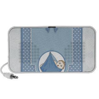 Baby Shower Boy Blue Pattern Party Nursery Art PC Speakers