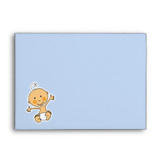Baby shower (boy) envelope