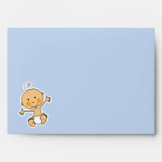 Baby shower (boy) envelopes