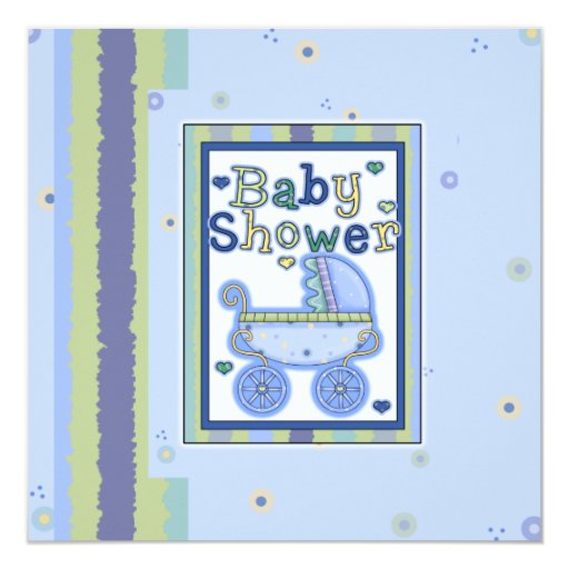 Baby Shower Boy Invitations