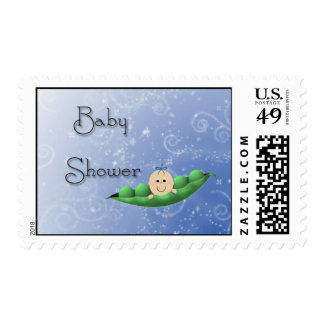 Baby Shower Boy Peapod Stamp