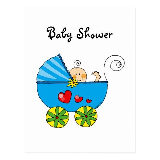 Baby shower (boy) postcard