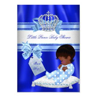 Baby Shower Boy Royal Blue Little Prince Ethnic Card