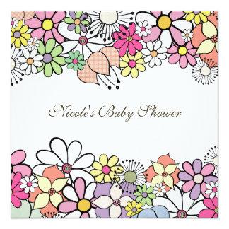Baby Shower Bright Blossoms Custom Invitation