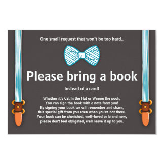 Baby Shower Bring a book card Little Man