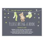 Baby Shower Bring a Book Card Teddy Bear