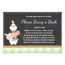 Baby Shower Bring a book Farm Country Green unisex Invitation