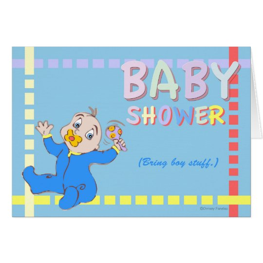 Baby Shower - Bring Boy Stuff Card