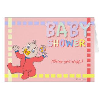 Baby Shower - Bring Girl Stuff Card