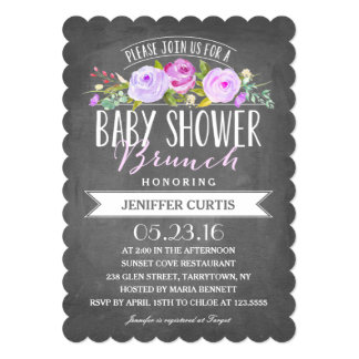 Baby Shower Brunch Card