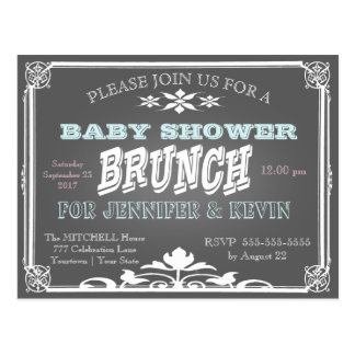 Baby Shower | BRUNCH | Chalkboard Postcard
