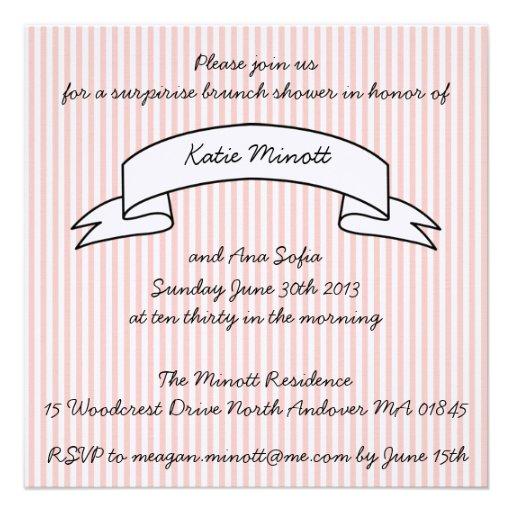 baby shower brunch invitation square invitation card zazzle