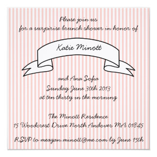 brunch baby shower invitations  announcements  zazzle, Baby shower