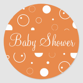 Baby Shower Bubbles Envelope Sticker Seal
