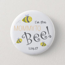 Baby Shower Button for New Mommy to Bee