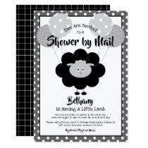 Baby Shower by Mail Chic Black & White Lamb Modern Invitation
