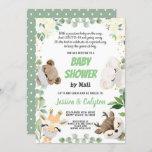 Baby Shower By Mail Gender Neutral Woodland Animal Invitation